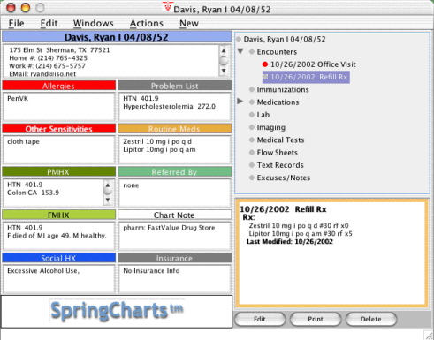 SpringCharts Tour - Improve Communication with Patients